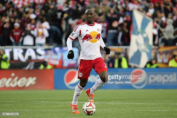 New York Red Bulls' Ibrahim Sekagya brings the ball up The New York Red Bulls and the New England Revolution played to a 22 draw in the second leg of...