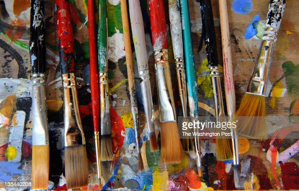 JOHN MD November 3 The tools of DC abstract artist Tom Green who has just been diagnosed with Lou Gehrig's disease in his home studio on November 3...