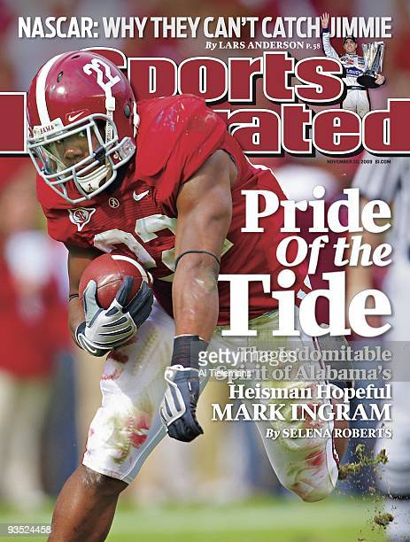 November 30 2009 Sports Illustrated Cover College Football Alabama Mark Ingram in action rushing vs Chattanooga Tuscaloosa AL CREDIT Al Tielemans