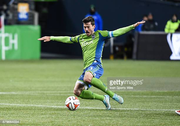 CenturyLink Field Seattle Washington Sounders FC Brad Evans as Seattle Sounders FC wins the match against the LA Galaxy 21 but lose the MLS Western...