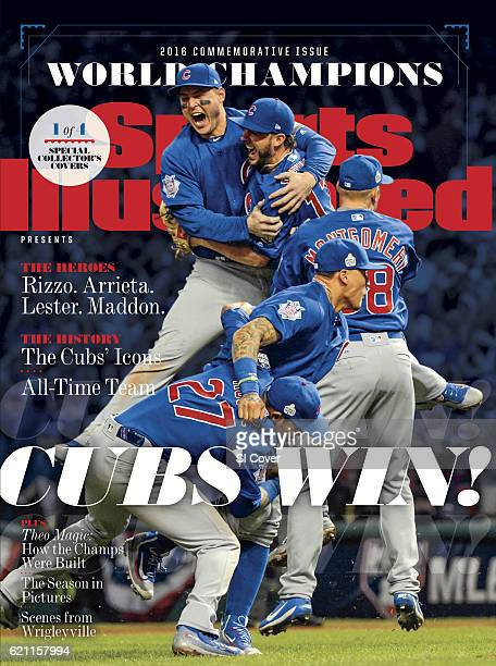 November 4 2016 Sports Illustrated via Getty Images Presents Cover World Series Chicago Cubs Anthony Rizzo Kris Bryant Javier Baez Mike Montgomery...