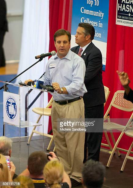 November 5 2012 ADAM HASNER Former Secretary of State Condoleeza Rice And Governor Jeb Bush Attend Event In Florida to Support Governor Mitt Romney...