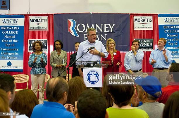 November 5 2012 JEB BUSH LT GOVERNOR JENNIFER CARROLL CONDOLEEZA RICE CHIP LaMARCA ADAM HASNER ADAM PUTNAM Former Secretary of State Condoleeza Rice...