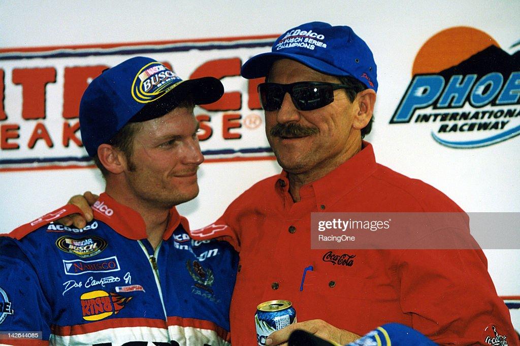Dale-Dale, Jr. - NASCAR Phoenix 1999 : News Photo