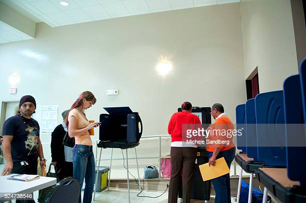 November 6 2012 The one poll booth machine in this Hallandale district broke down It broke down because someone checked in the box instead of...