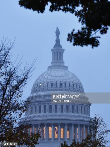 A November 6 2018 photo shows the US Capitol in Washington DC Americans started voting Tuesday in critical midterm elections that mark the first...