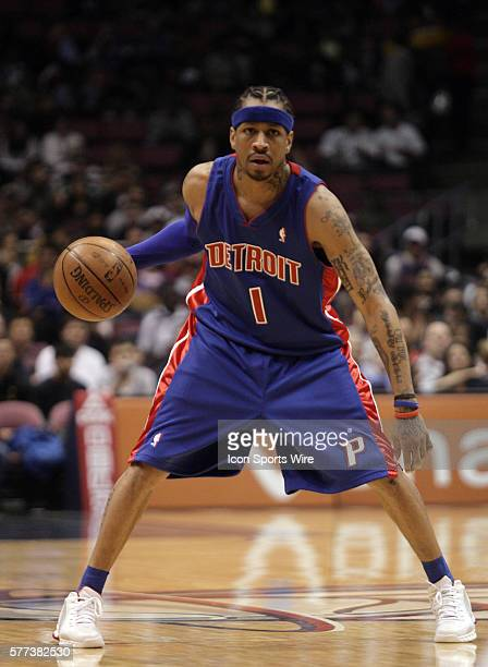 Allen Iverson scored 24 points in his Detroit Piston debut but it was not enough as his new team lost to New Jersey 10396 East Rutherford
