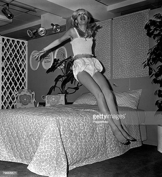 November 8th A model shows Mary Quant 'bloomers' at a London textile show