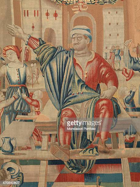 November by Benedetto da Milano upon drawing by Bramantino c 15031508 16th Century tapestry Italy Lombardy Milan Sforza Castle Detail The month of...