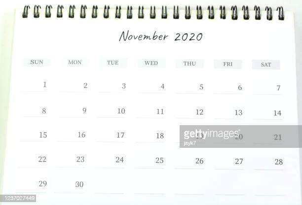 november month calendar - novembro imagens e fotografias de stock