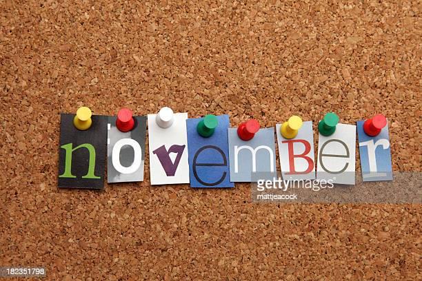 November pinned on noticeboard