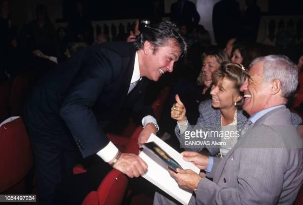 PARIS novembre 1994 La générale de la pièce 'Feu la mère de madame' mise en scène par Bernard MURAT au théâtre EdouardVII avec Muriel ROBIN Darry...