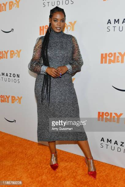 Novi Brown attends the premiere of Amazon Studios Honey Boy at The Dome at Arclight Hollywood on November 05 2019 in Hollywood California
