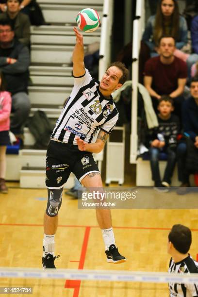 Novice Bjelica of Poitiers during the Ligue A match between Rennes and Poitiers on February 2 2018 in Rennes France