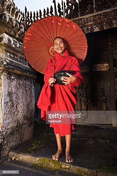 Buddhistischer Mönchs-Novize, Myanmar