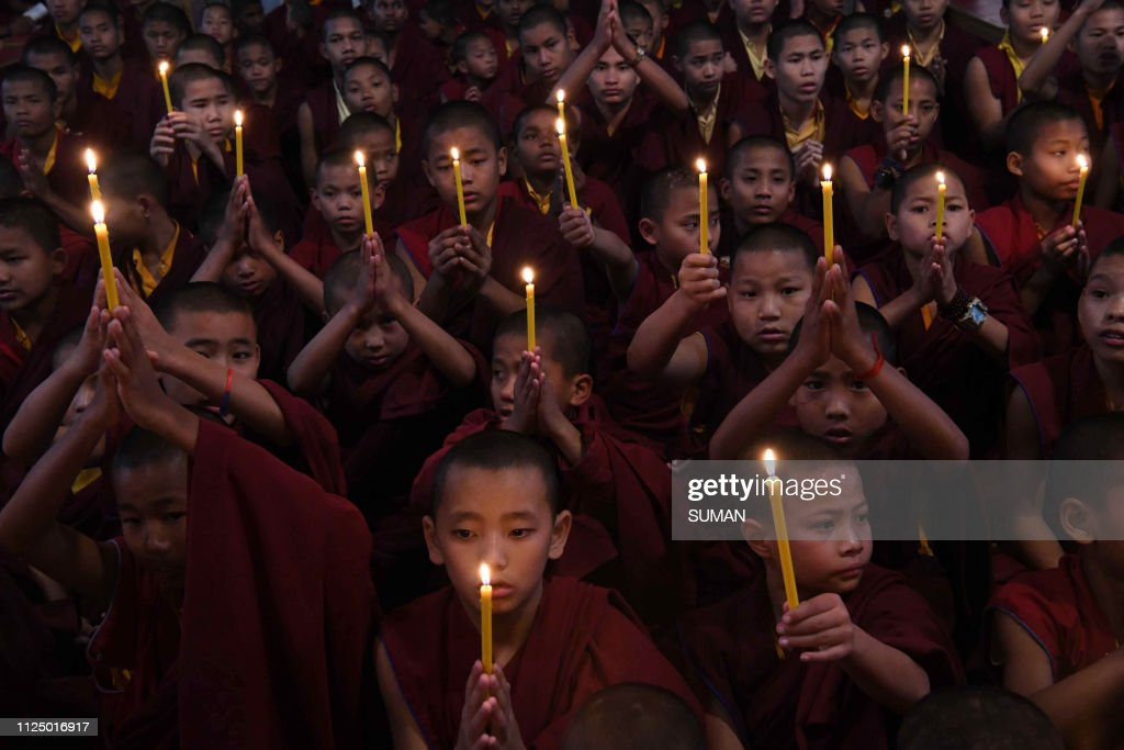 TOPSHOT-INDIA-PAKISTAN-UNREST-KASHMIR-PROTEST : Nyhetsfoto