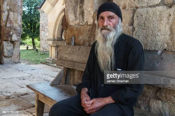 Novice monk, 70 years old, at Gelati Monastery, Kutaisi, Georgia (Model Release)