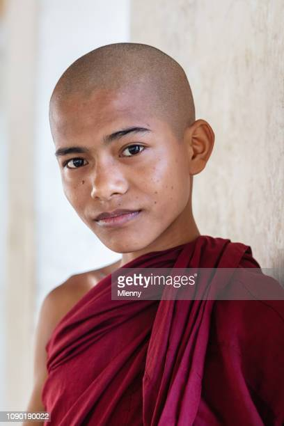 Novice Monk Myanmar Real People Portrait