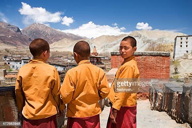 Buddhistischer Mönche in Tibet-Kloster.   Mustang.