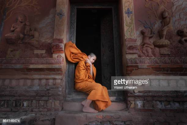 Novices monk at temple .Luang Prabang,Laos.