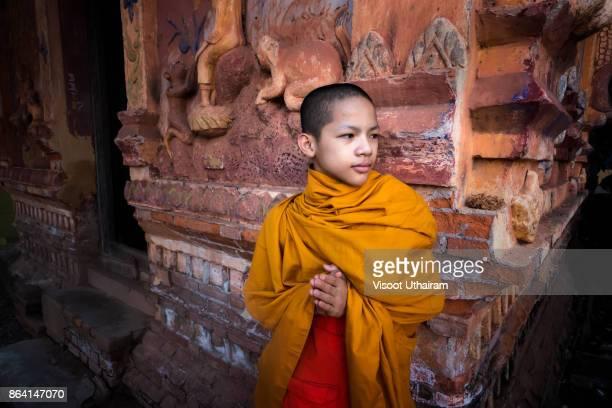 Novices monk at temple .Luang Prabang,Laos.