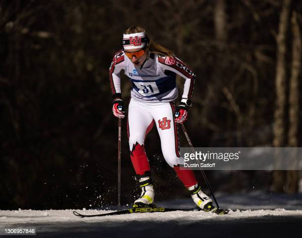 Novie McCabe of the University of Utah during the women's 15km freestyle at the NCAA Skiing Championships on March 13, 2021 in Jackson, New Hampshire.