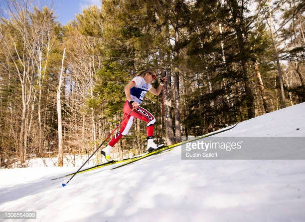 Novie McCabe of the University of Utah during the women's 5km classic at the NCAA Skiing Championship on March 11, 2021 in Jackson, New Hampshire.