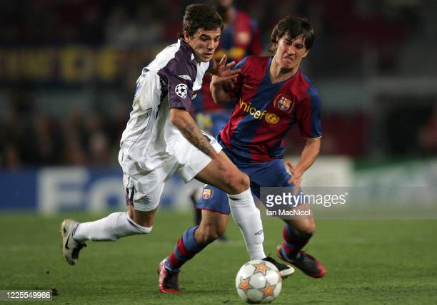 Novo Nacho of Rangers vies with Bojan Krkic of Barcelona during the UEFA Champions League Group E match between Barcelona and Rangers at the Camp Nou...