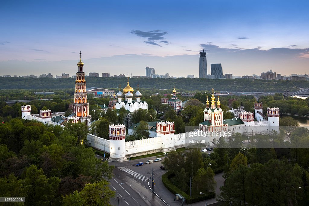 Novodevichy Convent In Moscow Russia Birds Eye View Stock ...