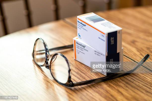 NovoRapid and NovoLog a replacement insulin drug is seen at Travis Paulson's house on January 16 2020 in Eveleth Minnesota It's the wealthiest...