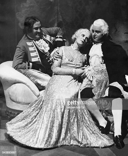 Novotna Jarmila Actress Singer Czechia* with Walter Grossmann and Marcel Wittrich in the opera 'Manon Lescaut' by Puccini Photographer Curt Ullmann...