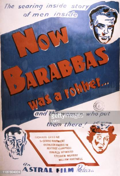 Now Barabbas poster Canadian poster Richard Greene bottom from left Cedric Hardwicke Kathleen Harrison 1949