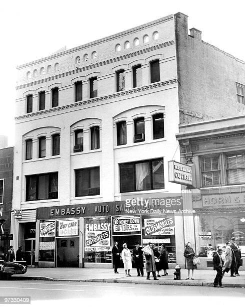 Now cluster of small firms this building at 1721 Broadway near 55th Street was site of notorious Hotsy Totsy Club where back in 1929 Legs Diamond and...