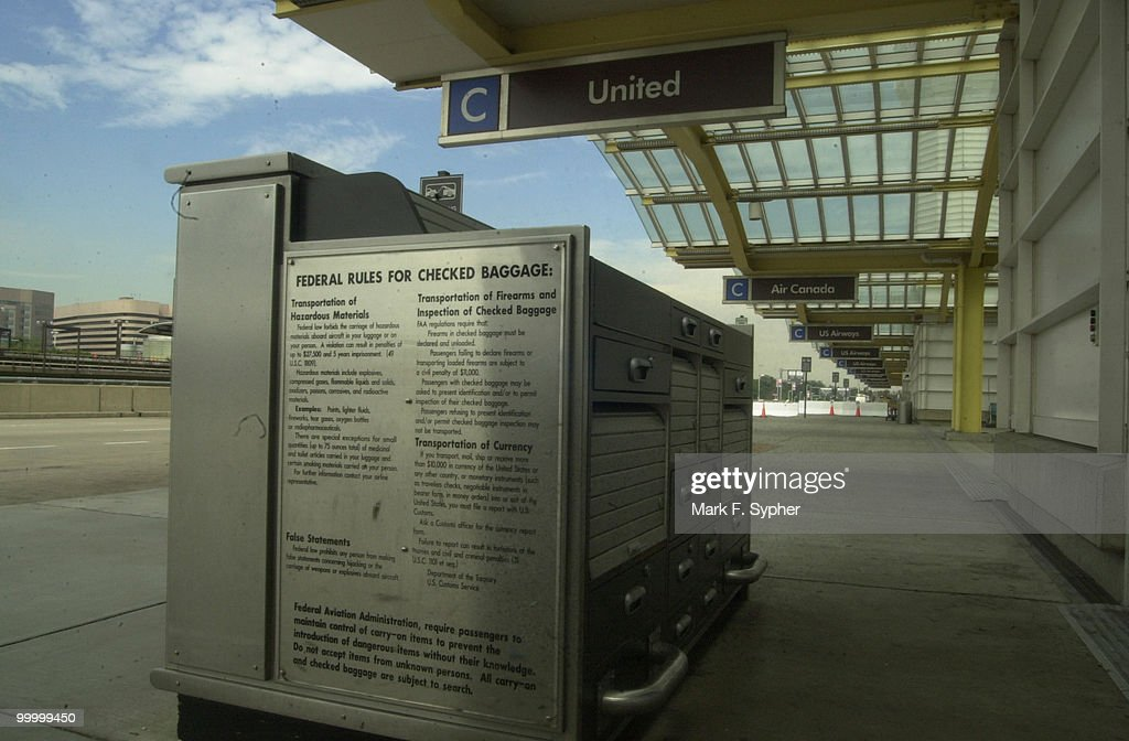 A now defunct United Airways express baggage check.