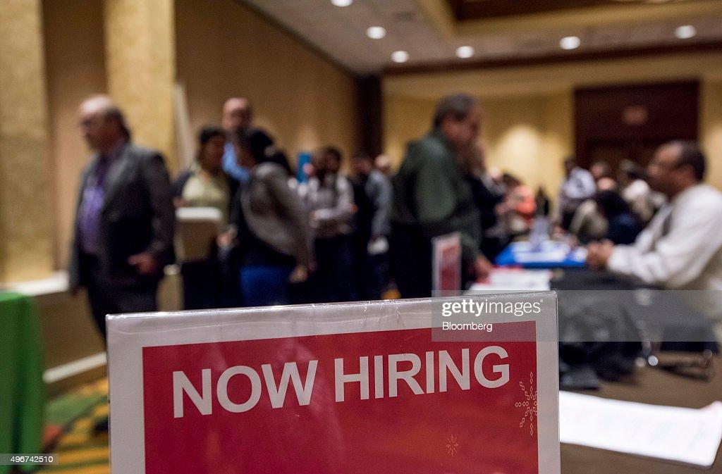 A Career Fair Ahead Of Jobless Claims Figures : News Photo
