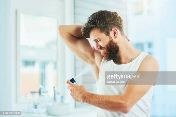 now i smell as good as i look - male armpits stock pictures, royalty-free photos & images