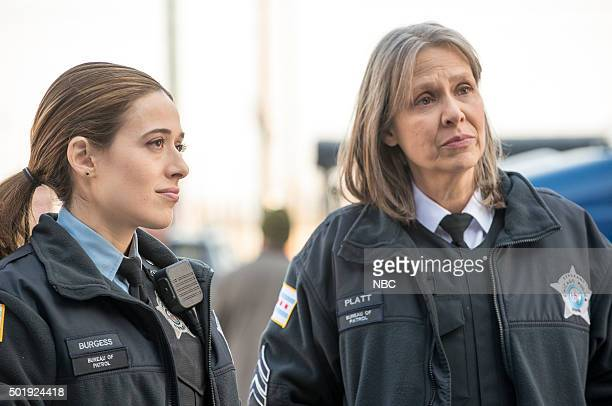 D 'Now I'm God' Episode 310 Pictured Marina Squerciati as Officer Kim Burgess Amy Morton as Desk Sgt Trudy Platt