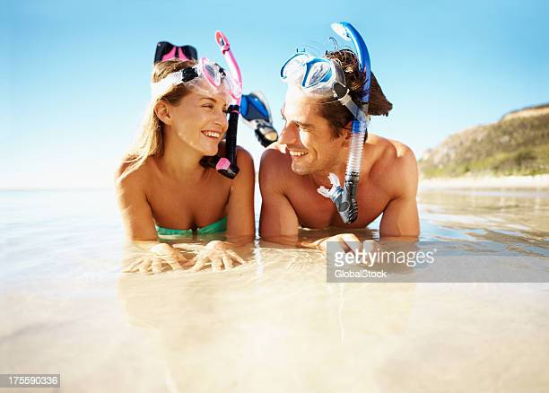 now i'm ready for scuba diving - snorkeling stock pictures, royalty-free photos & images