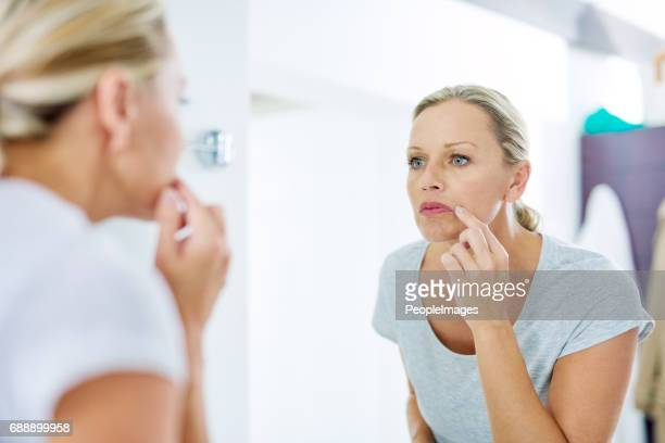 now is the time to look after your skin - mirror stock photos and pictures