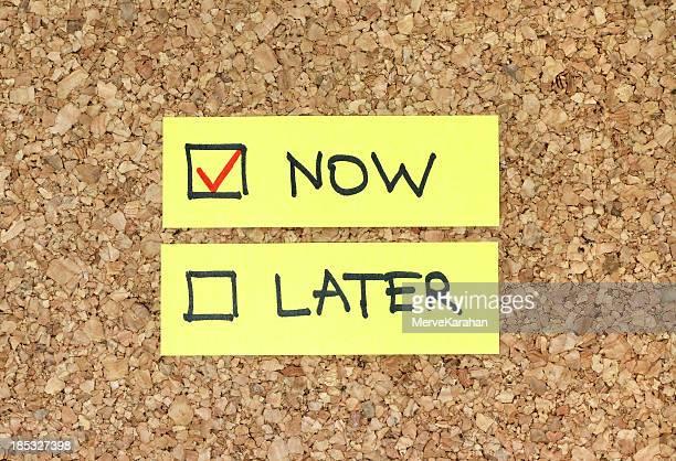 Ora o più tardi