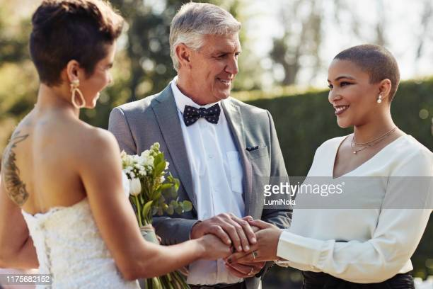 i now pronounce you wife and wifey! - civil partnership stock pictures, royalty-free photos & images