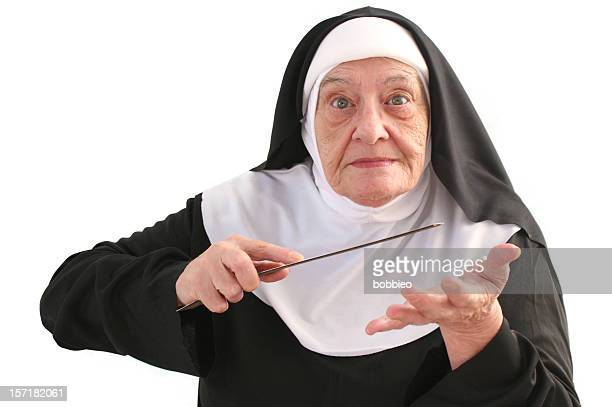 nun series - slapping stock pictures, royalty-free photos & images