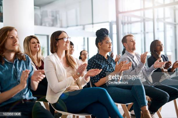 now that's what you call a take home presentation - clapping hands stock pictures, royalty-free photos & images