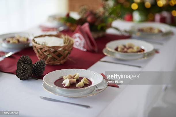 Now the Christmas dinner can be served. Debica, Poland