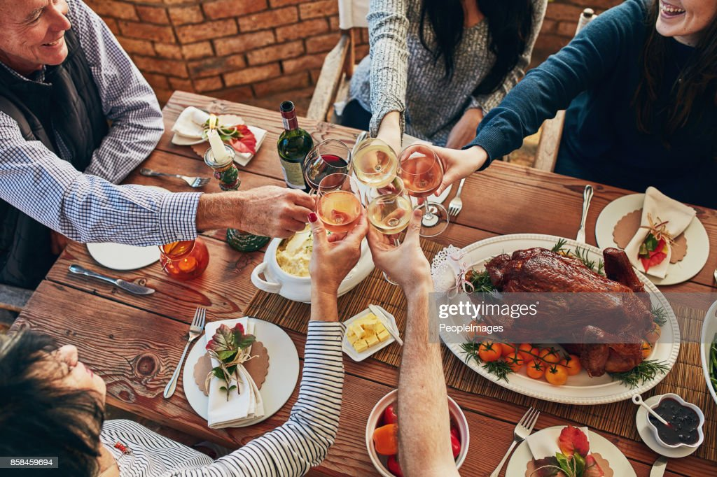 Now this is our kind of Thanksgiving meal : Stock Photo