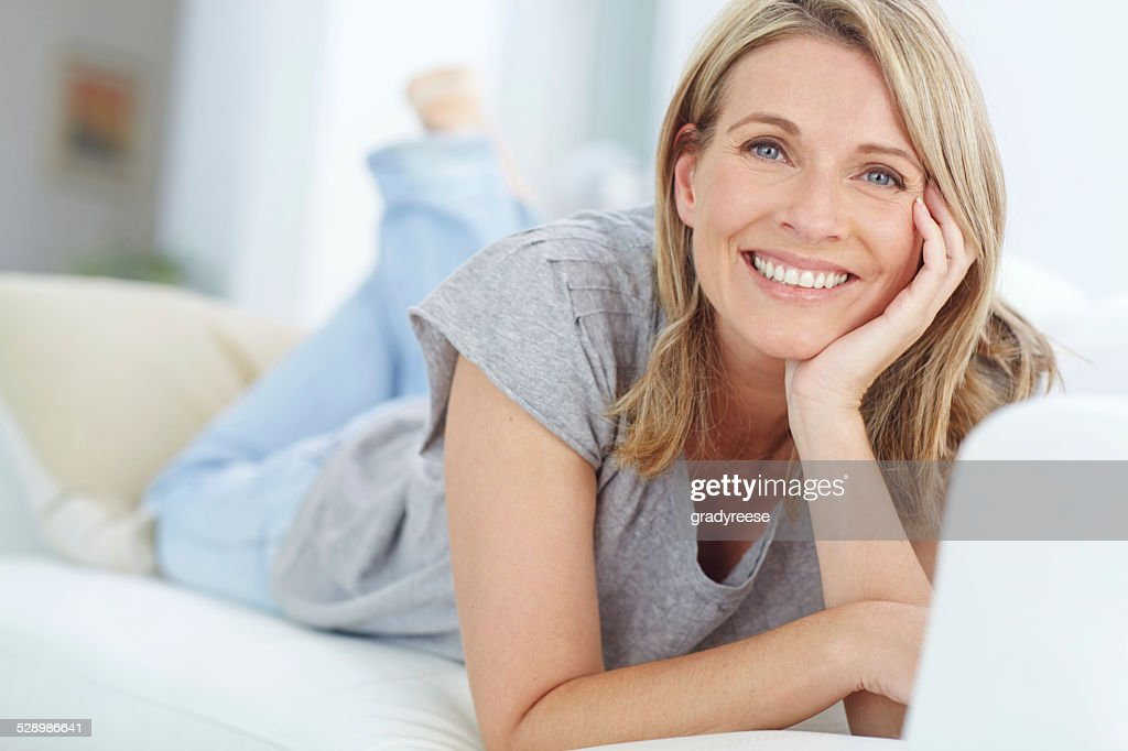 Nowhere more relaxing than home : Stock Photo