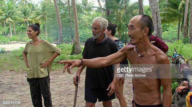 Now's the Time to Start Scheming Michele Fitzgerald Joseph Del Campo and Tai Trang during the twelfth episode of SURVIVOR KAOH RONG Brains vs Brawn...