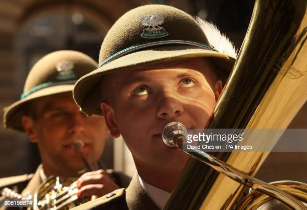 Nowy Sscz's the Border Guard of the Polish Republic play in Edinburgh's Quadrangle The band part of the Edinburgh Tattoo played for the Lord Provost...