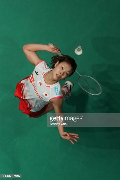 Nozomi Okuhara of Japan in action on day five of the Badminton Malaysia Open at Axiata Arena on April 06 2019 in Kuala Lumpur Malaysia