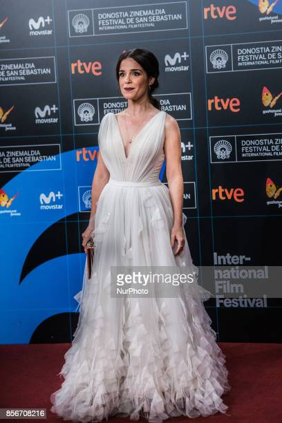Núria Gago attends the red carpet of the closure gala during 65th San Sebastian Film Festival at Kursaal on September 30 2017 in San Sebastian Spain